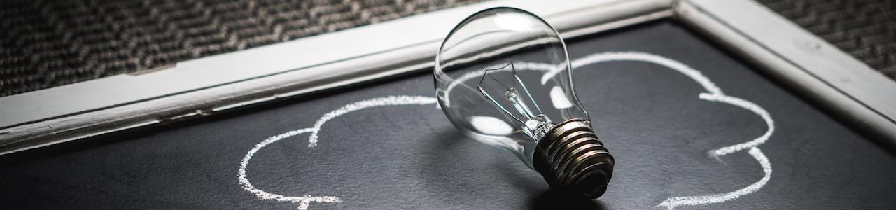lightbulb chalkboard idea